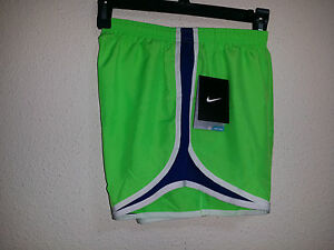 NEW Womens Nike Tempo Running Short Voltage Green Blue S