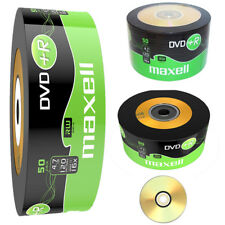 GENUINE MAXELL DVD+R 50 PACK BLANK DISCS RECORDABLE DVD 16x 4.7GB 120 MINS PC