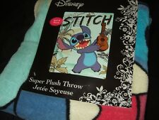 New Lilo & Stitch Ukulele Guitar Hawaii Beach Disney Plush Fleece Throw Blanket