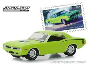 1:64 1970 Plymouth Hemi Cuda -- Lime Green -- United States Postal Service