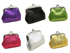 NEW LADIES GIRLS WOMEN SEQUIN COIN WALLET POUCH MONEY PURSE GIFT SPARKLE XMAS UK