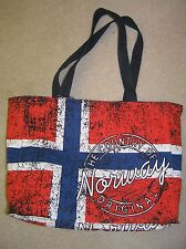 Robin Ruth largel canvas bag with Norwegian flag