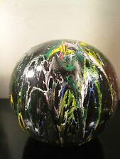 hand painted on wood ball by musk yai one of a kind