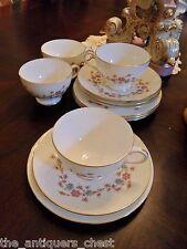 Minton England tea set, c1950s,4 trios & creamer(cup,saucer,plate x4),13 pcs[19]