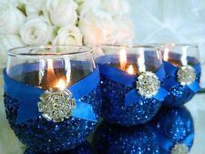 Royal Blue Candle Holders, Baby Shower Decor, Bridal Shower Decor, Wedding Decor