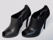 Nuevas damas Jassie Ralph Lauren De Cuero Negro Zapato Bota UK 7 EU 39.5 nos 9.5 £ 545