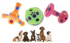 Dog Toy Laughing Giggling Noise Sound Vinyl Ball, Dumb Bell or Jack