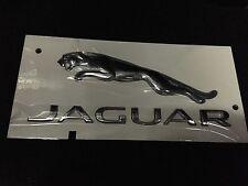 Jaguar Genuine 'Boot Lid 'Jaguar' Text & Cat Leaper Badge/ Decal/ Emblem