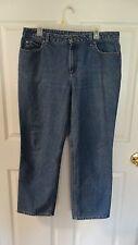 NICE Liz Claiborne  Womens classic straight Jeans Size 14 Short COLOR BLUE