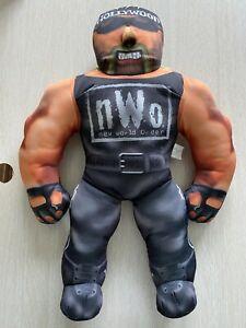 "Hollywood Hulk Hogan WCW NWO 21"" Bashin Brawler Talking Plush Doll 1998"