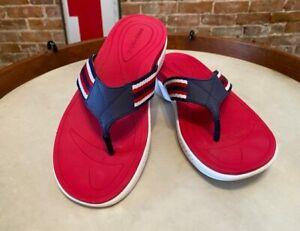 Easy Spirit Red White Dark Blue Randi Thong Sandals New Summer Flip Flop