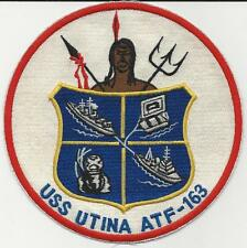 USS Utina ATF-163  (US Navy Ship's Patch) (1968)