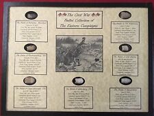 The Civil War Bullet Collection of The Eastern Campaigns with COA