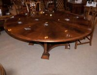 Regency Extending Jupe Round Dining Table Centre Tables Jupes