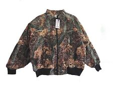 Jacket-Bomber Style - Poly/Cotton Duck - Fall Camo Pattern - Large - Made in USA
