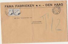 Netherlands 1935 postage due cover FAMA Fabrieken Den Haag to MENALDUMADEEL