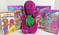 """Lot of 5 Barney the Purple Dinosaur VHS Tapes and 14"""" Plush Lyons Dated 1992"""