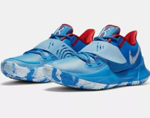 NEW Nike Kyrie Low 3 Basketball Shoes CJ1286-400 Men's Size 8 Pacific Blue/White