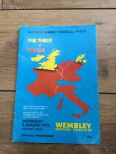 More details for very rare  1973 common market the three v the six football @ wembley