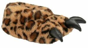British Footwear Ladies Leopard Plush Soft Fun Quality Monster 3D Bear Slippers