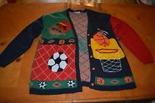 UGLY SPORTS CHRISTMAS SWEATER WINNER FOR YOU TOO WEAR VINTAGE RARE FIND