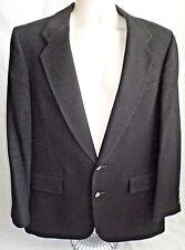 CHRISTIAN DIOR Mens Black Sports Coat Size 38-40R 100% Cashmere 2 Button Jacket