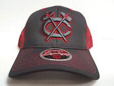 Chicago Blackhawks Cap Zephyr Adjustable Mesh Snapback Jolt Trucker Hat NHL
