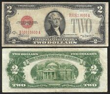 US - $2.00 USN (Red Seals) Vrs 1928 dates - FINE condition