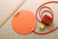 "Dia 10"" Circular Silicone Heater Kettle Vacuum Chamber Pad w/ Digital Controller"