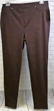Style & Co Woman Burgundy Leggings Jeggings Comfort Waist Mid Rise New Size 1X