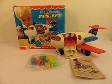NEW Vintage Rare Fisher-Price Little People Play Family Fun Jet #183 1970 USA