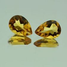 Brazil Pear Transparent Loose Citrines