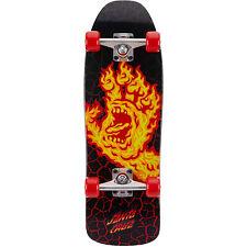"Santa Cruz Skateboard Complete Flame Hand 80's Style Black 8.39"" x 26.09"""