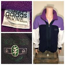 Vintage Adidas Nature Purple fleece track jacket Purple F204 spell out 80s 90s