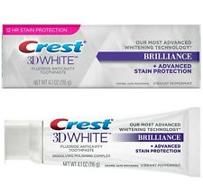Crest 3D White Brilliance Whitening Fluoride Toothpaste Stain Protection 116g UK