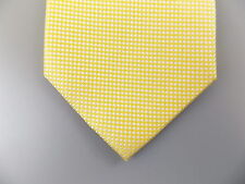 """TOMMY HILFIGER $70 MEN Yellow Solid Classic WIDTH 3.5"""" NECK TIE 100% Silk A08"""