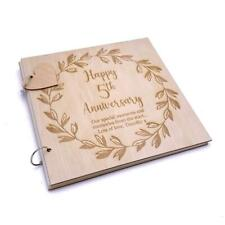 Personalised 5th Anniversary Wooden Photo Album Scrapbook Keepsake Gift LWOD-44
