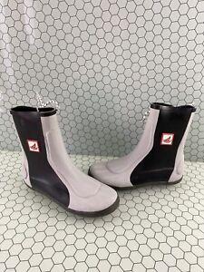 Sperry Top-Sider Seahiker Gray/Black Rubber Waterproof Side Lace Boots Men's 7