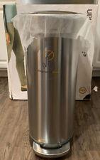 simplehuman Slim 45-Liter Step-On Trash Can with Liner Rim