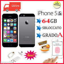 APPLE IPHONE 5S 64GB GRADO AAA + ACCESSORI SMARTPHONE A1533 TOUCH ID CELLULARE