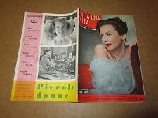 CINEROMANZO I ROMANZI DELLO SCHERMO N°9 MAG.1955 TUTTA UNA VITA M.SCOTT W.GARGAN