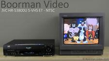 JVC HR-S3800U S-VHS ET NTSC
