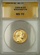 1999-W George Washington Commemorative $5 Gold Coin ANACS MS-70 *Perfect GEM*
