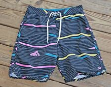 DC Size 34 Black Yellow Blue Pink Board Shorts Swimsuit Surfing Men's (AI)
