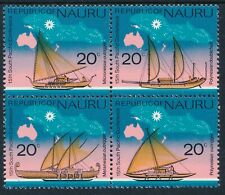 1975 NAURU 15th SOUTH PACIFIC CONFERENCE BLOCK OF 4 FINE MINT MNH