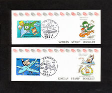 SSBD_040 Korea 1995 2 BOOKLET PLANE CARTOONS MNH SUPERB