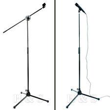 Alta Calidad Profesional Micrófono Mic Soporte Soporte Ajustable + 2 Clips