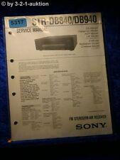 Sony Service Manual STR DE840 /DE940 FM/AM Receiver (#5317)