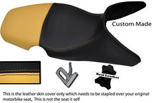 TAN & BLACK CUSTOM 01-07 FITS BMW F 650 GS REAL DUAL LEATHER SEAT COVER