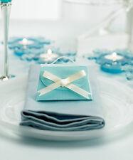 Aqua Blue Purse Wedding Bridal Shower Favor Boxes - Pack of 10
